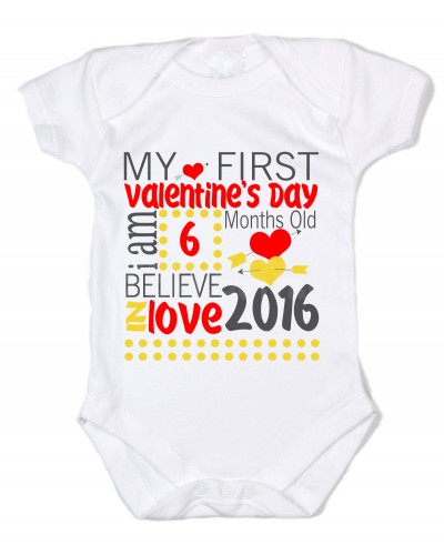 my first valentine Shop my first valentine's day bodysuit created by wild_honey_designs personalize it with photos & text or purchase as is.