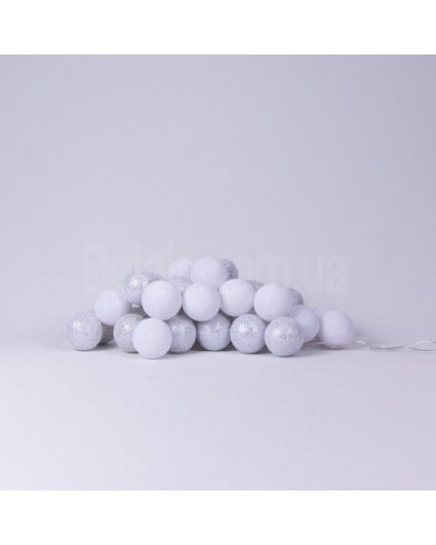 "Фото Светящиеся шары Cotton Ball Lights ""White Silver"" 10 шаров"