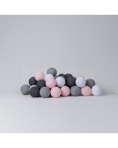 "Фото Светящиеся шары Cotton Ball Lights ""Pink Grey"" 10 шаров"