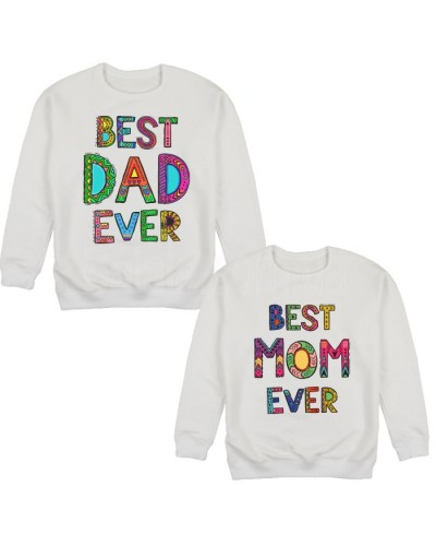 "Фото Парные свитшоты Balala ""Best Mom - Best Dad"" L L"