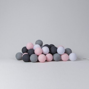 "Фото Светящиеся шары Cotton Ball Lights ""Pink Grey"""