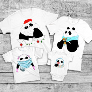 "Фото Family Look Balala ""Winter Pandas"""