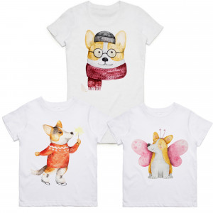 "Фото Family look Balala ""Winter Corgi"""