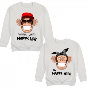 "Фото Парные свитшоты Balala ""Happy Wife - Happy Life"""