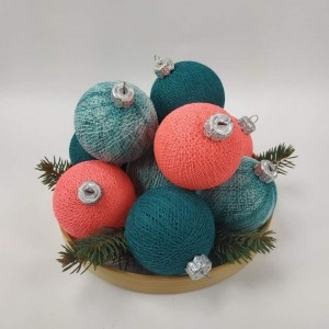 "Фото Игрушки на ёлку Cotton Ball Lights ""Coral Pink - Heavy Aqua Mix"""