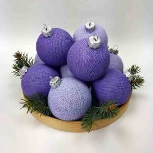 "Фото Игрушки на ёлку Cotton Ball Lights ""Lavander-Violet Mix"""