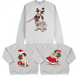 "Фото Family look Balala ""Christmas Pugs"""