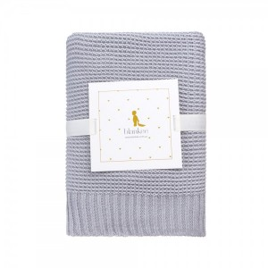 "Фото Детский плед Blankee ""Baby Basic Silver"""