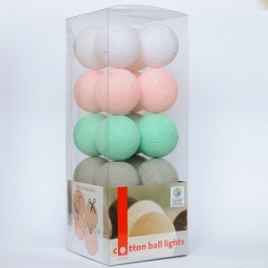 "Фото Светящиеся шары Cotton Ball Lights ""Mint Candy"""