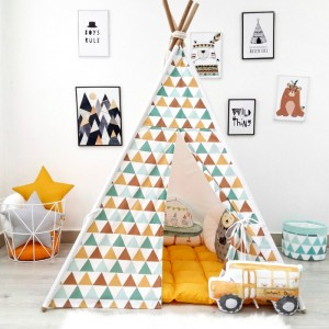 "Фото Детский вигвам Happy Spaces ""Mint and Brown Triangles"""