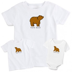 "Фото Family look Balala ""Papa Bear-Baby Bear"""