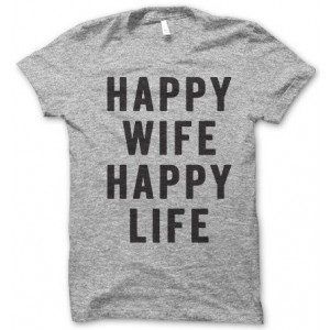"Фото Футболка для мужа Balala ""Happy Wife Happy Life"""