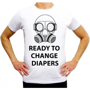 "Фото Футболка для папы Balala ""Ready to change Diapers"""