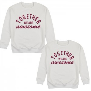 "Фото Парные свитшоты Balala ""Together We Are Awesome"""