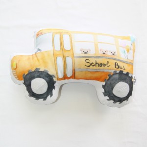 "Фото Подушка Happy Spaces ""School Bus"""