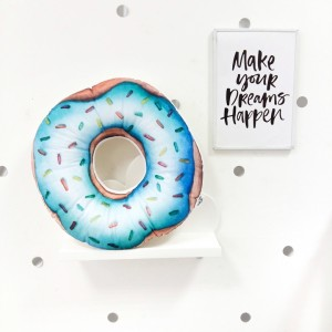 "Фото Подушка Happy Spaces ""Blue Donut"""