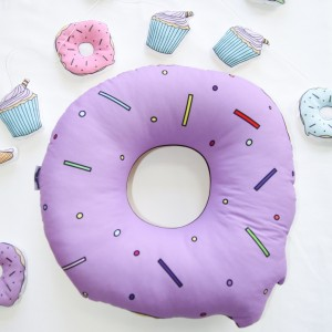 "Фото Подушка Happy Spaces ""Cutie Donut"" сиреневая"
