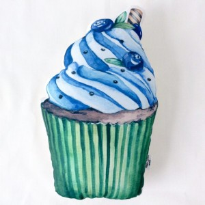"Фото Подушка Happy Spaces ""Blueberry Cupcake"""