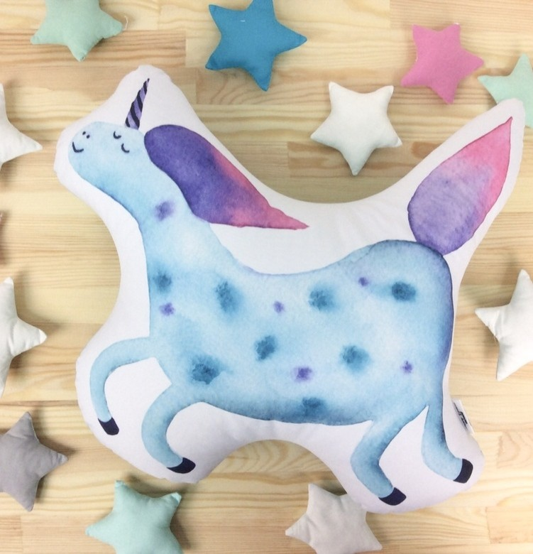 "Подушка Happy Spaces ""Blue Unicorn"""