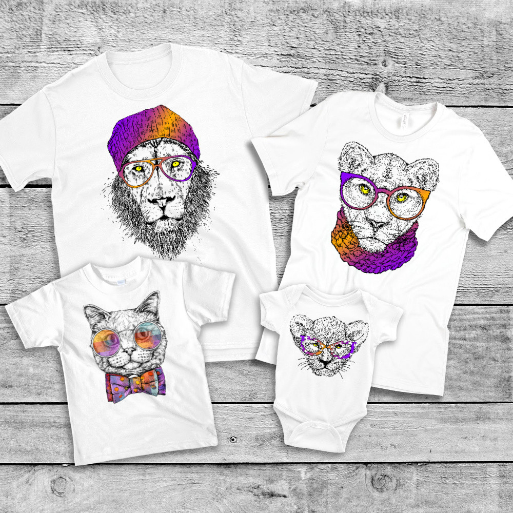 """Family Look Balala """"Hipster Lions"""""""